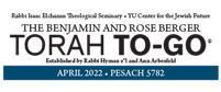 Benjamin and Rose Berger Pesach To-Go 5779