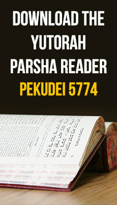 YUTorah reader for Parshat Pekudei